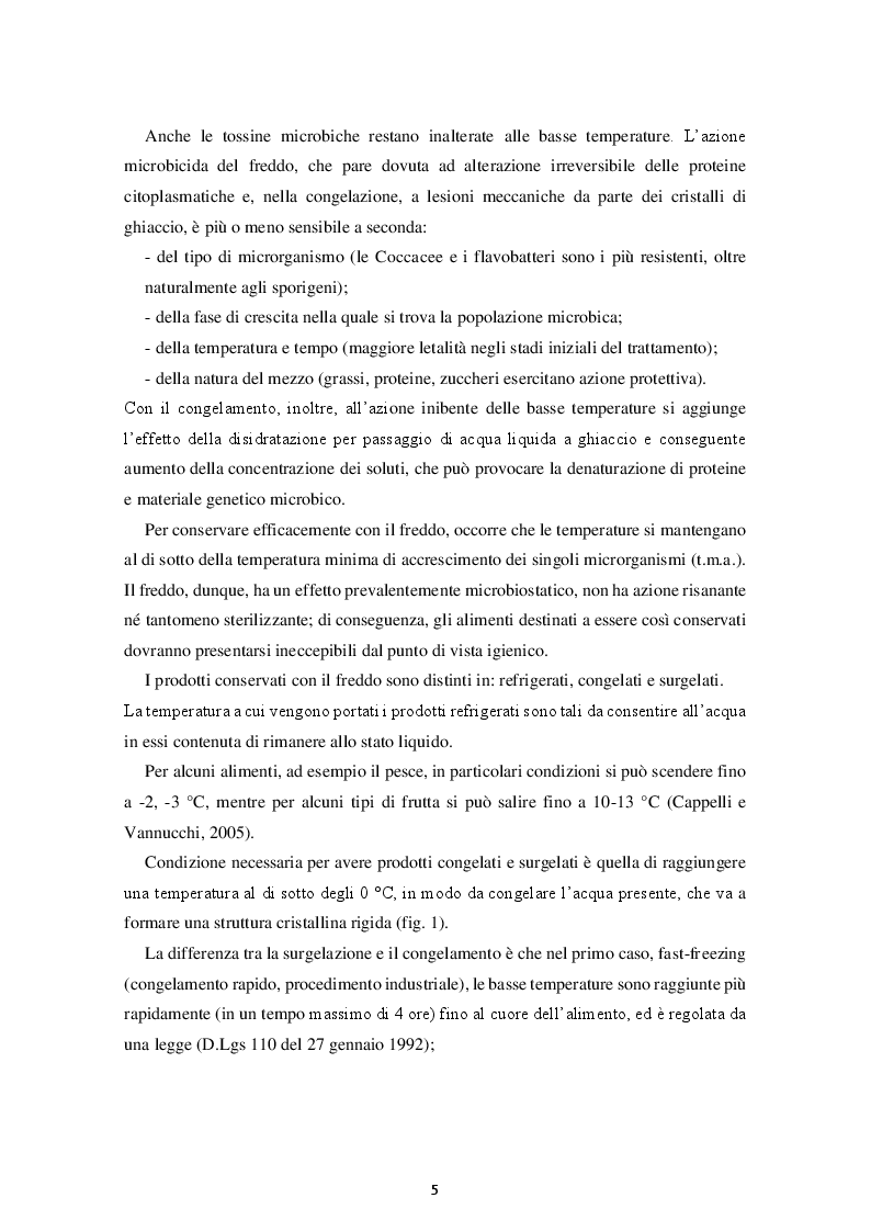 Anteprima della tesi: Prodotti Gastronomici Surgelati, Pagina 4