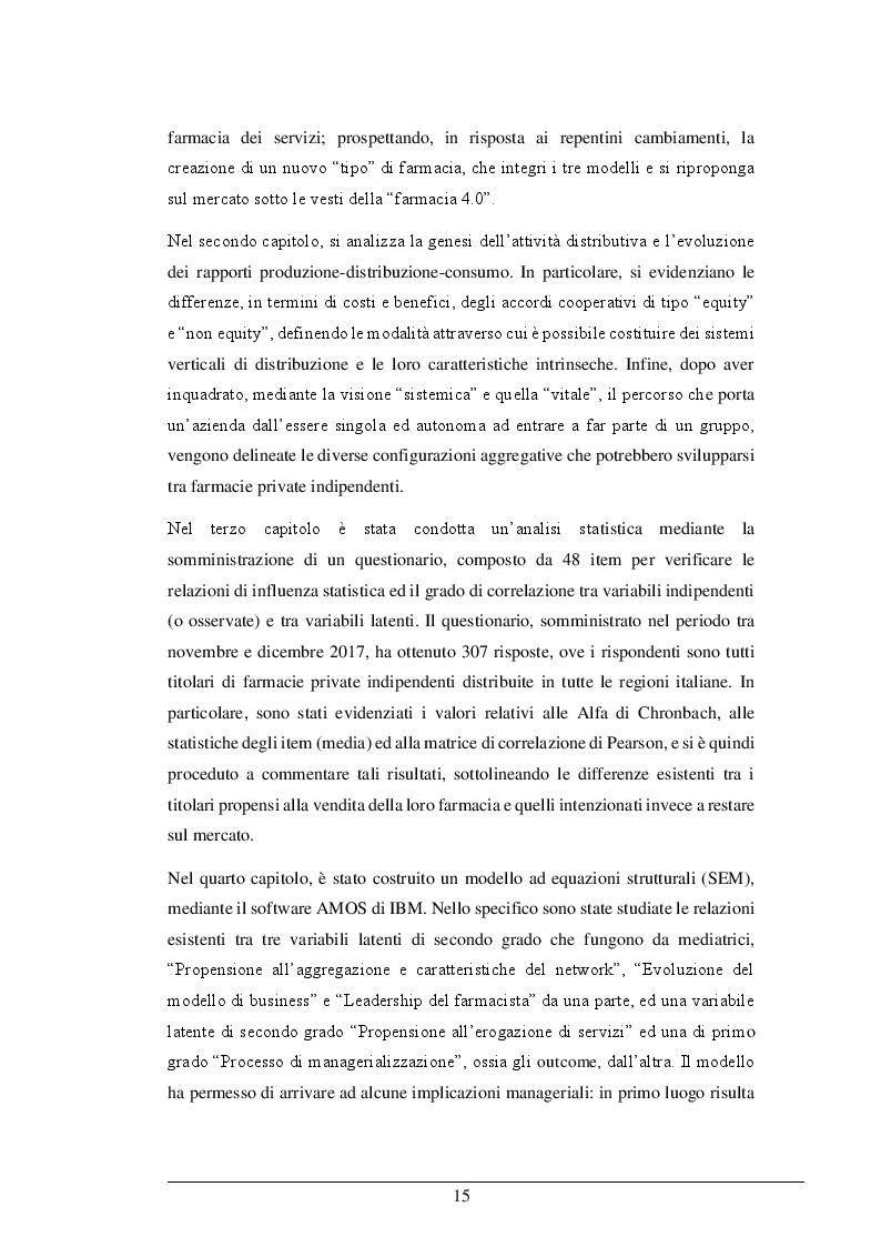 Anteprima della tesi: La Legge 124/2017: le risposte strategico organizzative dei titolari di farmacia ed il nuovo business model. Il caso Alphega Pharmacy, Pagina 5
