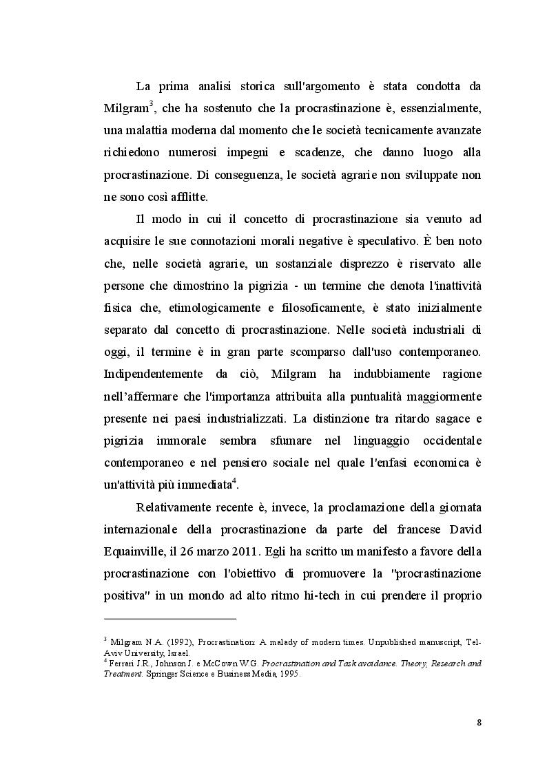 Anteprima della tesi: La procrastinazione in adolescenza: Una ricerca sul campo, Pagina 7