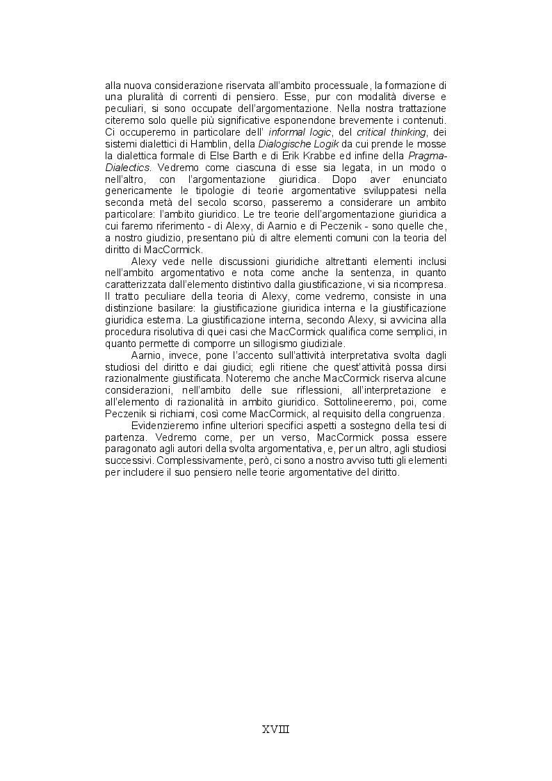 Anteprima della tesi: La teoria del ragionamento giuridico di Neil MacCormick, un approccio post-positivista all'argomentazione, Pagina 10