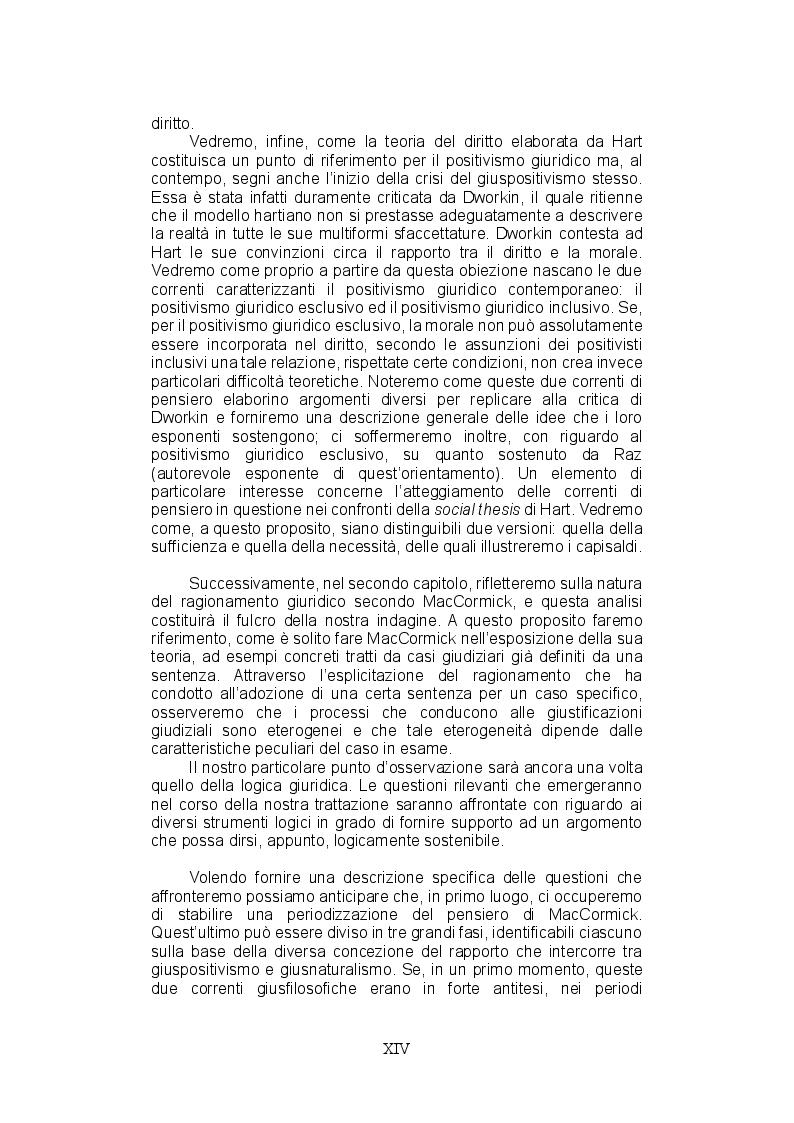 Anteprima della tesi: La teoria del ragionamento giuridico di Neil MacCormick, un approccio post-positivista all'argomentazione, Pagina 6
