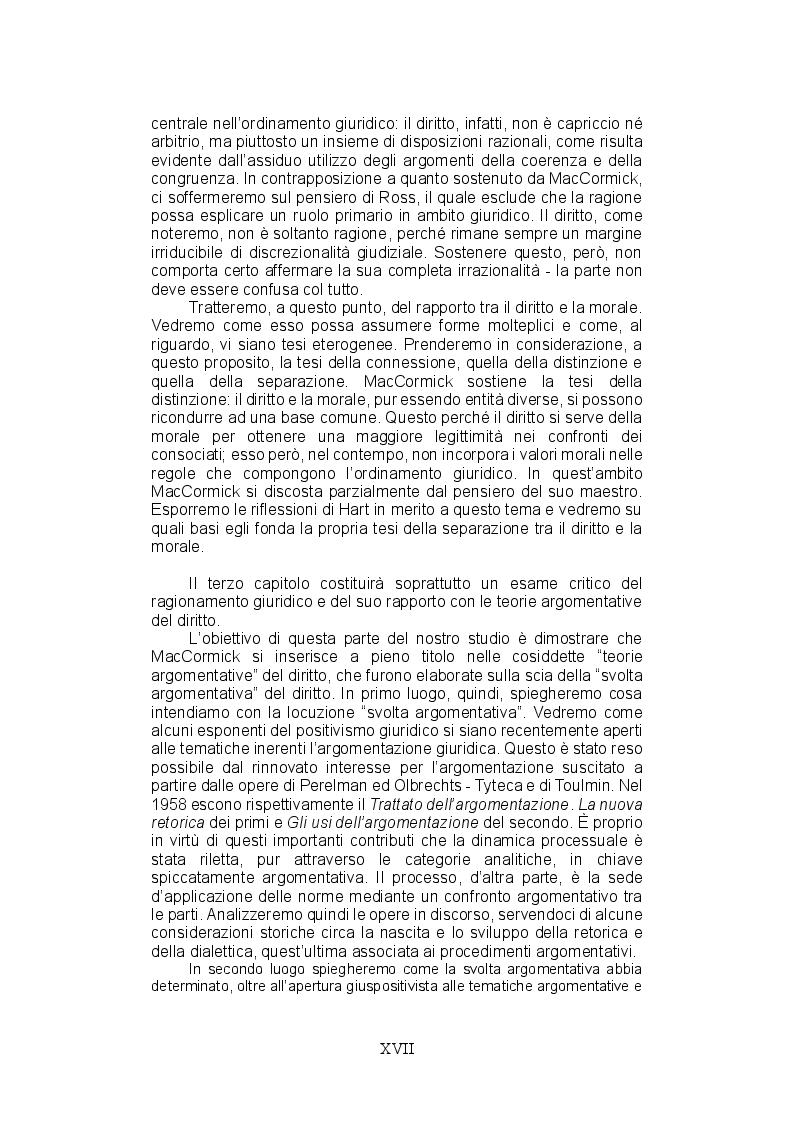 Anteprima della tesi: La teoria del ragionamento giuridico di Neil MacCormick, un approccio post-positivista all'argomentazione, Pagina 9