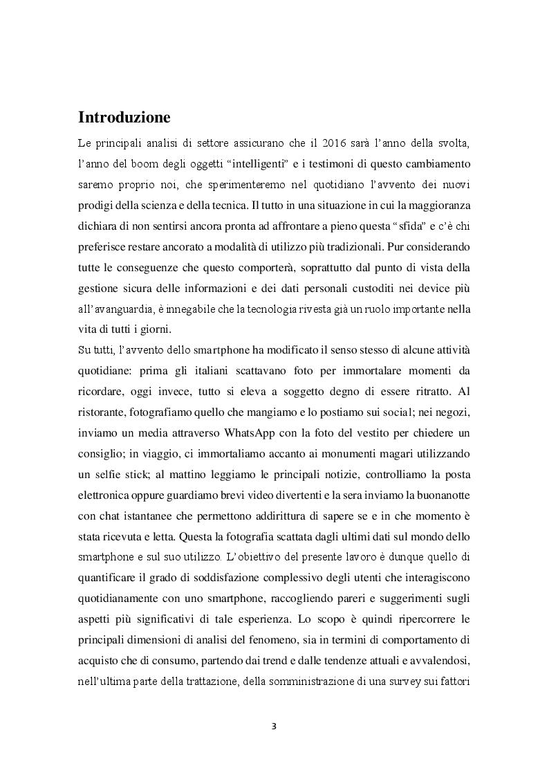 Anteprima della tesi: Comportamento di acquisto e di consumo nel mondo dello smartphone: un'analisi statistica, Pagina 2