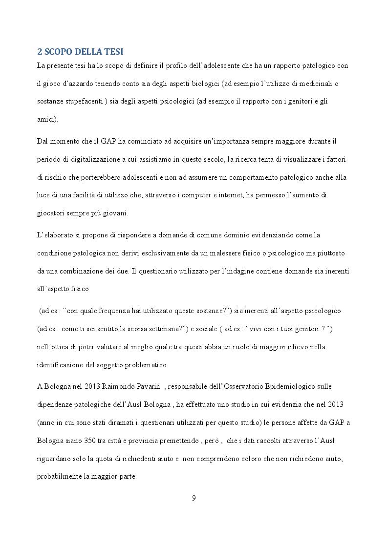 Anteprima della tesi: Indicatori sociali e sanitari implicati nello sviluppo di ludopatia negli adolescenti, Pagina 2