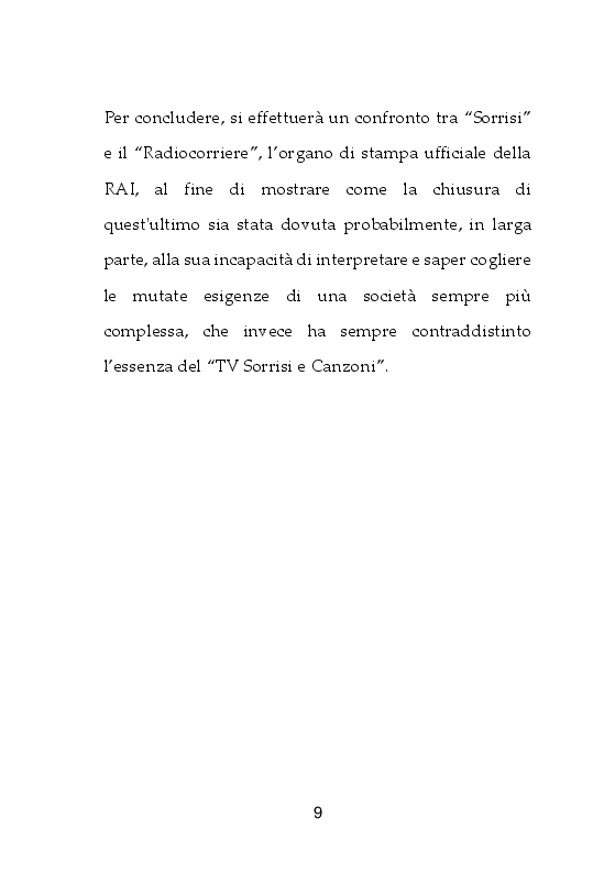 Anteprima della tesi: I giornali della TV. Dal Radiocorriere a Tv Sorrisi e Canzoni, Pagina 4