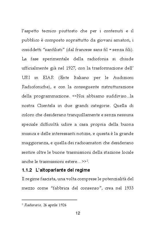 Anteprima della tesi: I giornali della TV. Dal Radiocorriere a Tv Sorrisi e Canzoni, Pagina 6