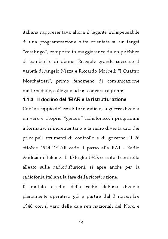 Anteprima della tesi: I giornali della TV. Dal Radiocorriere a Tv Sorrisi e Canzoni, Pagina 8