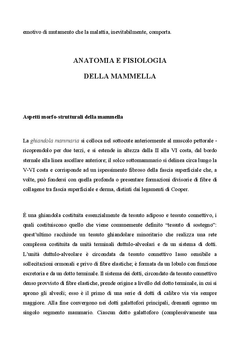 Anteprima della tesi: Management infermieristico nella donna con ricostruzione mammaria: dalla diagnosi  alla riabilitazione, Pagina 5