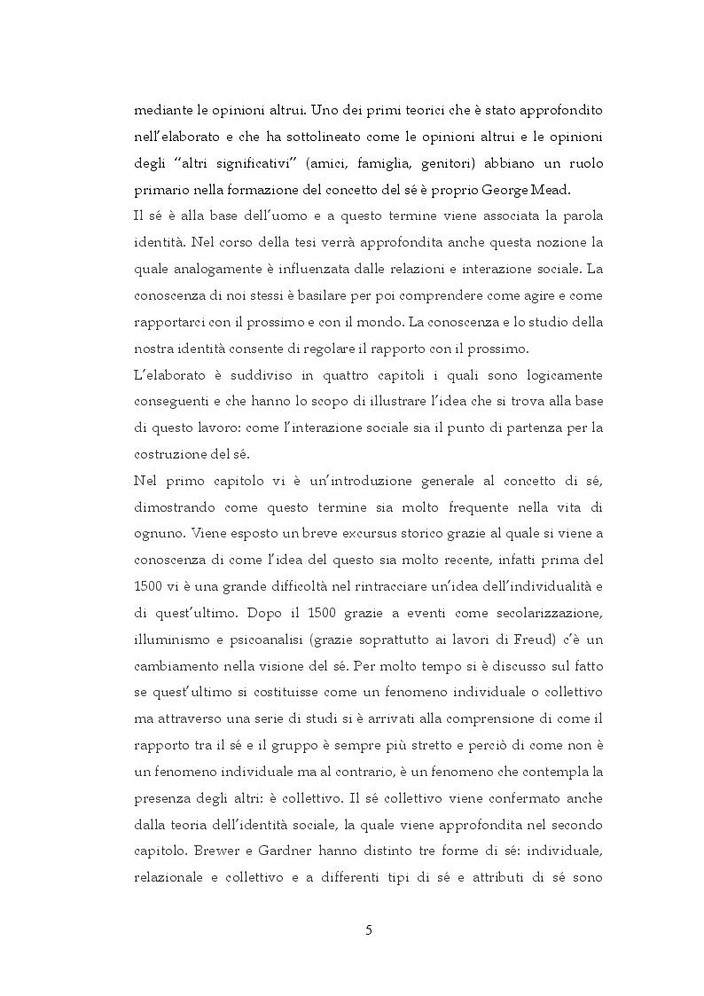 Anteprima della tesi: Interazione sociale e costruzione del sé, Pagina 3