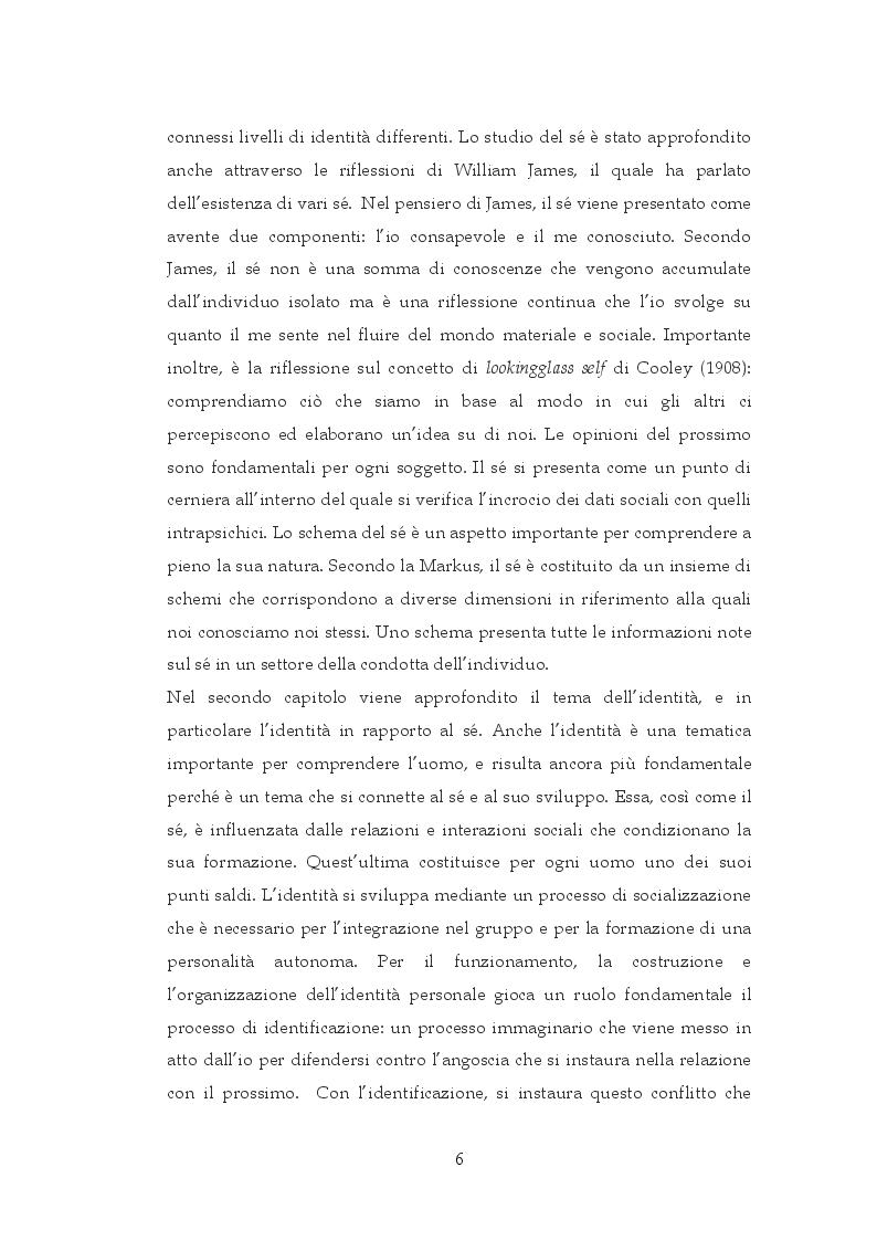 Anteprima della tesi: Interazione sociale e costruzione del sé, Pagina 4
