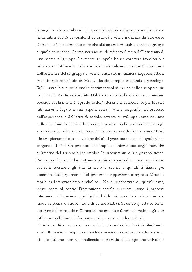 Anteprima della tesi: Interazione sociale e costruzione del sé, Pagina 6