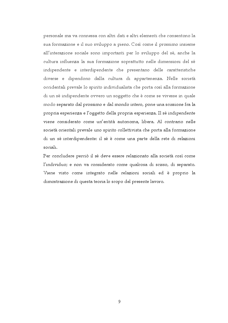 Anteprima della tesi: Interazione sociale e costruzione del sé, Pagina 7