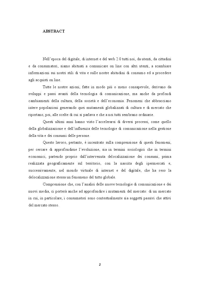 Anteprima della tesi: Internet e la decontestualizzazione dei consumi, Pagina 2
