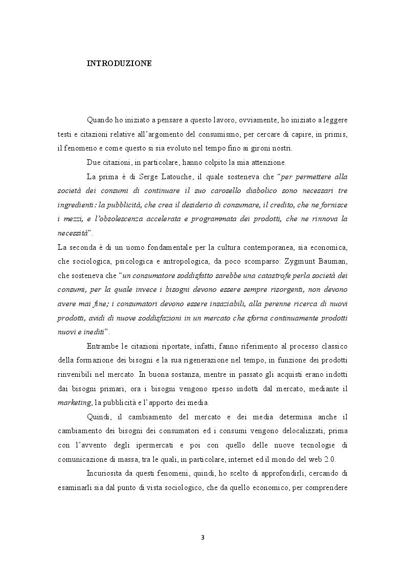 Anteprima della tesi: Internet e la decontestualizzazione dei consumi, Pagina 3