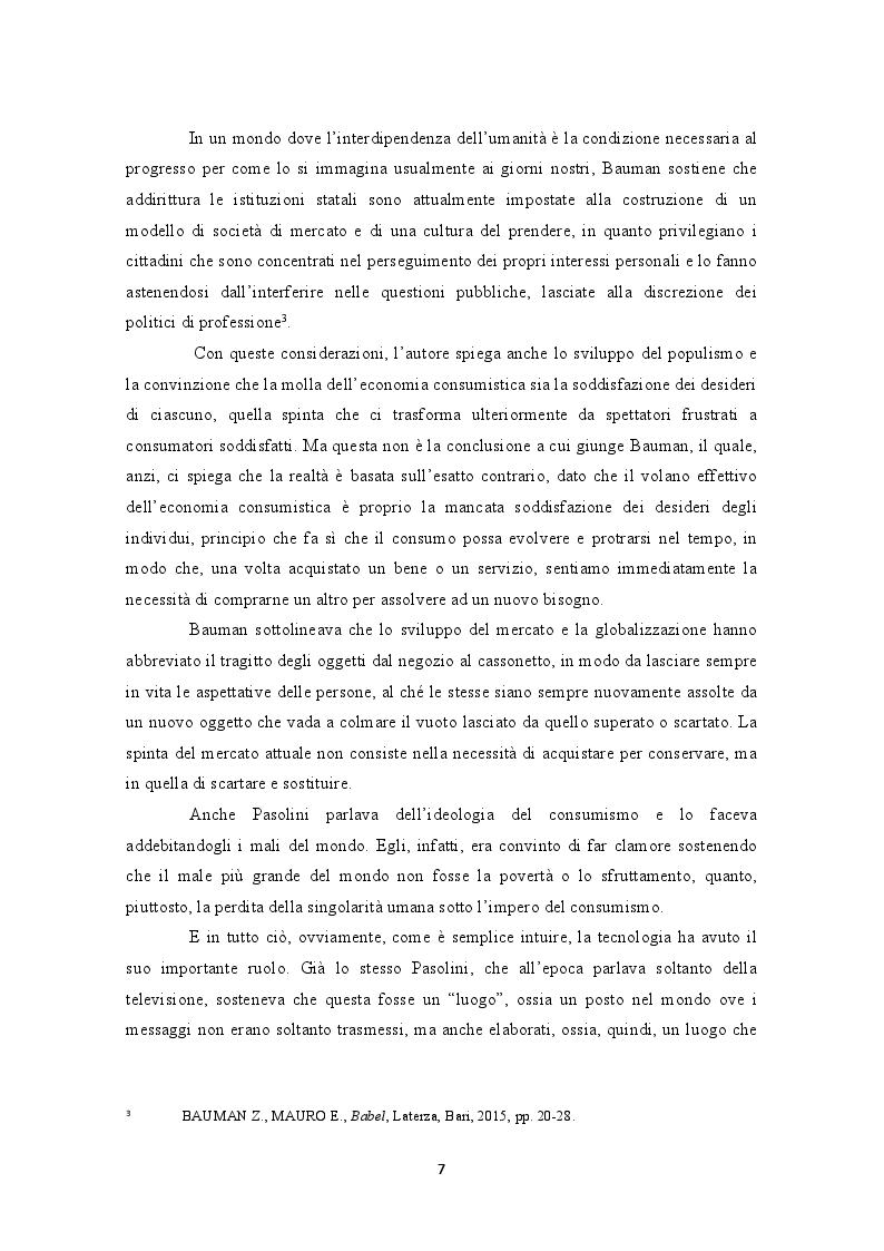 Anteprima della tesi: Internet e la decontestualizzazione dei consumi, Pagina 7
