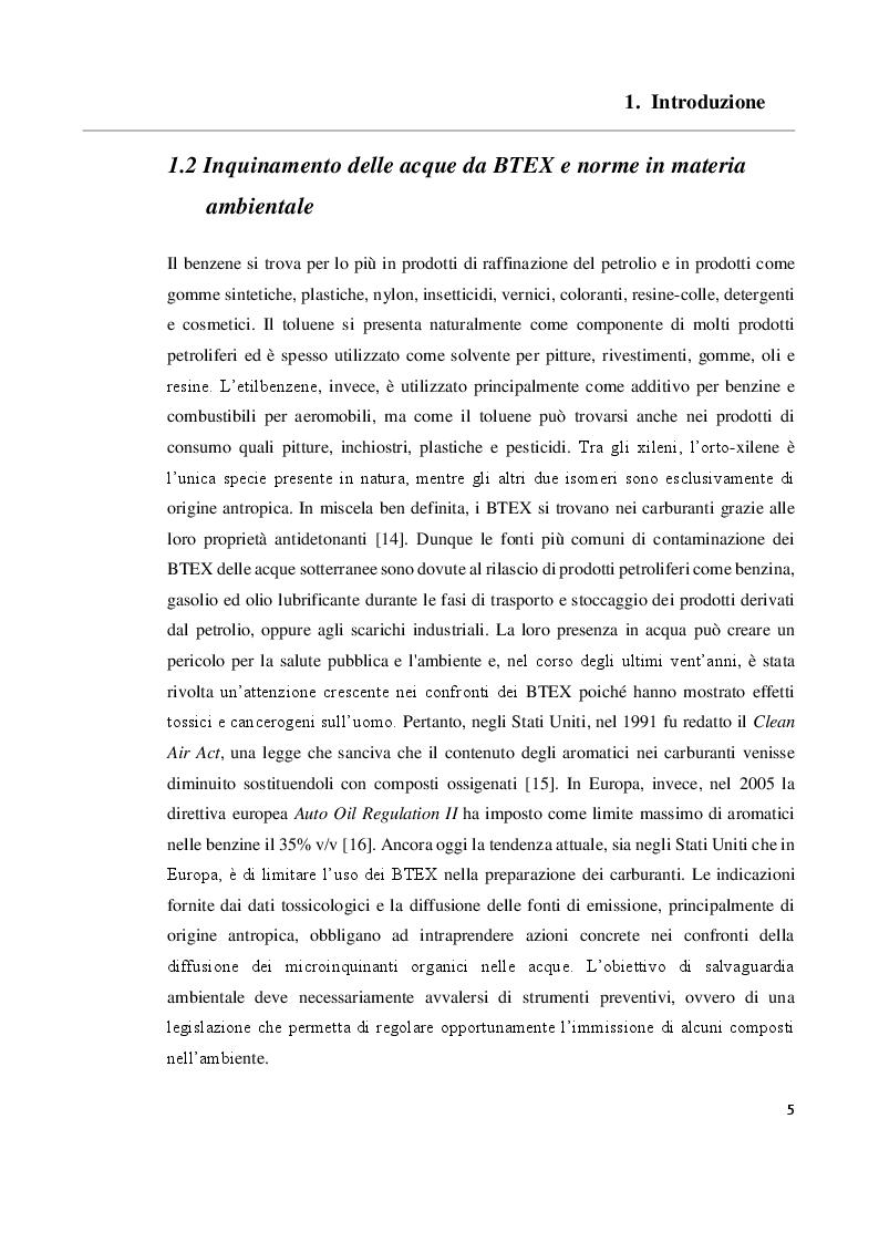 Anteprima della tesi: Sviluppo e validazione di un metodo analitico basato sulla gas cromatografia con rivelazione a ionizzazione da scarica a barriera (GC/BID) per la determinazione dei BTEX in campioni di acqua, Pagina 6