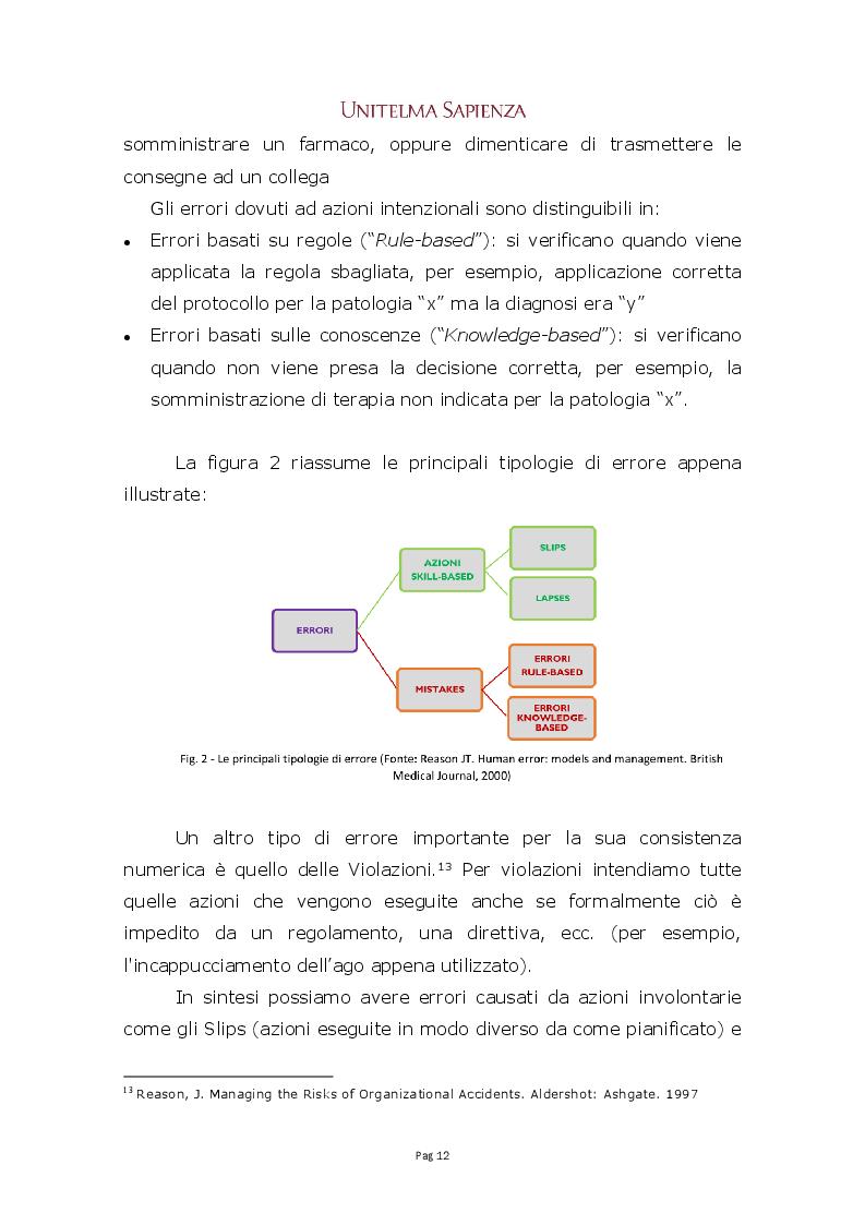 Anteprima della tesi: Implementazione di un sistema integrato di gestione del rischio clinico nelle aziende sanitarie, Pagina 6