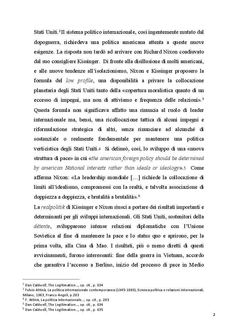 Anteprima della tesi: Gli Stati Uniti e l'Europa negli anni della presidenza Nixon, Pagina 3