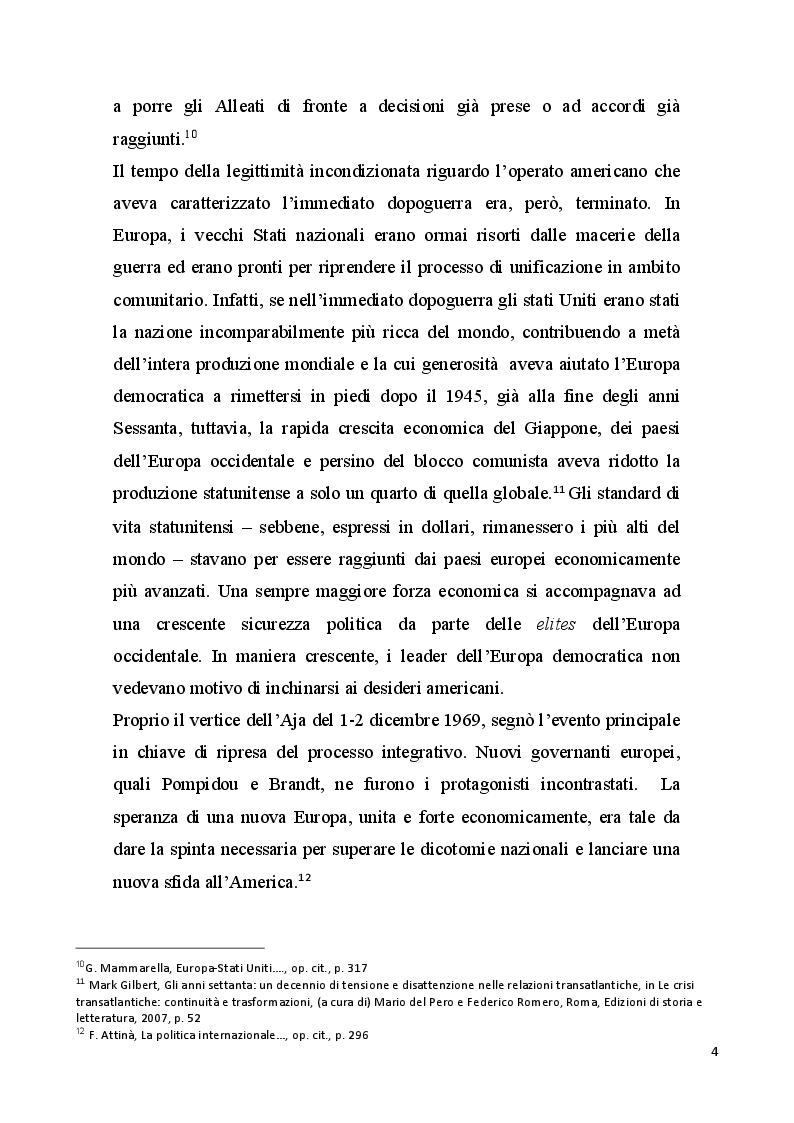Anteprima della tesi: Gli Stati Uniti e l'Europa negli anni della presidenza Nixon, Pagina 5