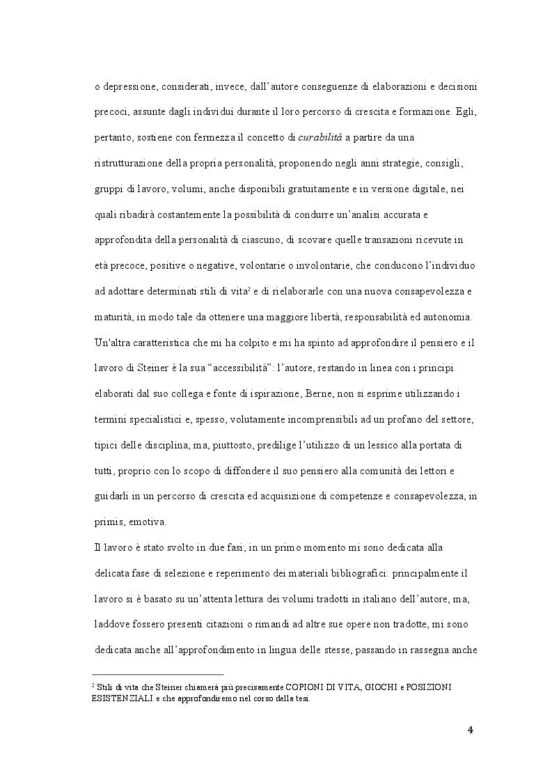 Anteprima della tesi: Claude M. Steiner: viaggio alla scoperta della personalità, Pagina 3