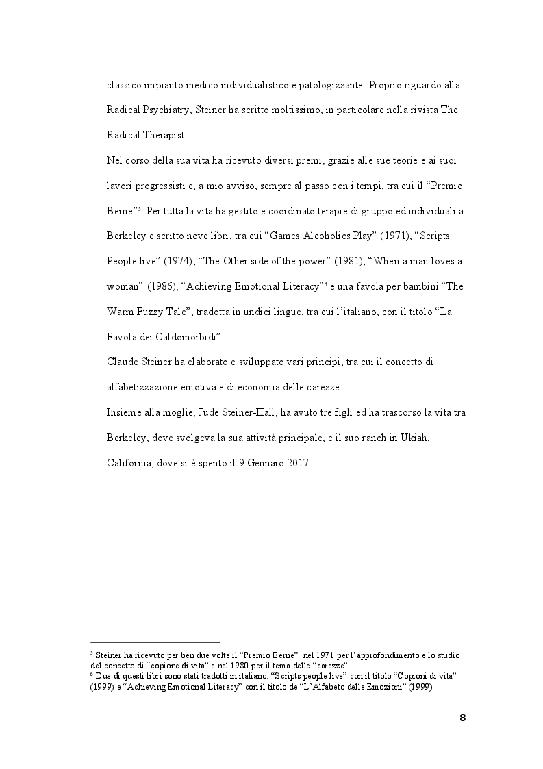 Anteprima della tesi: Claude M. Steiner: viaggio alla scoperta della personalità, Pagina 7