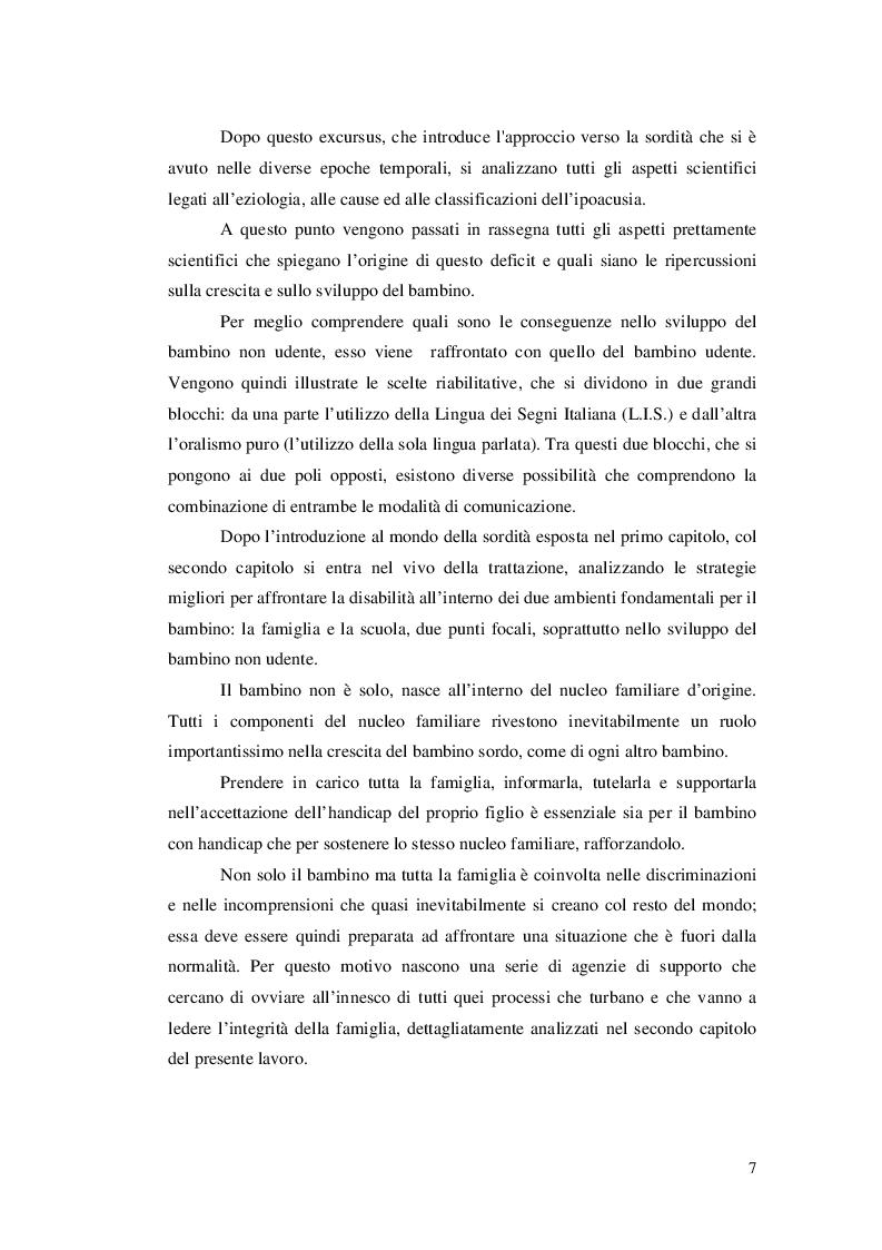 Anteprima della tesi: Approcci educativi per il bambini con disturbi dell'udito, Pagina 4