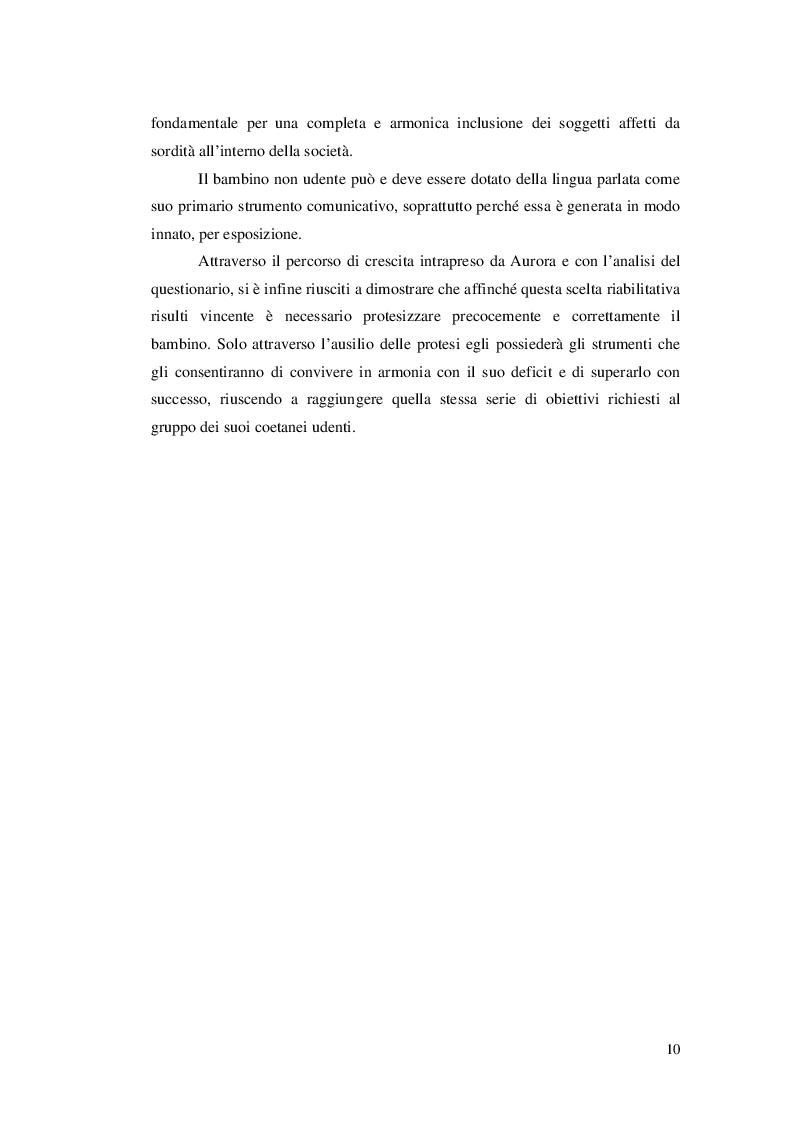 Anteprima della tesi: Approcci educativi per il bambini con disturbi dell'udito, Pagina 7