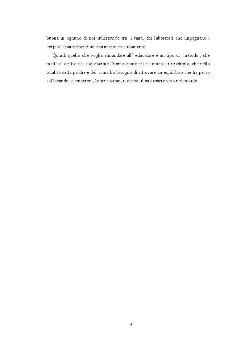 Anteprima della tesi: La bioenergetica e il teatro. L'importanza del corpo nella relazione d'aiuto, Pagina 3