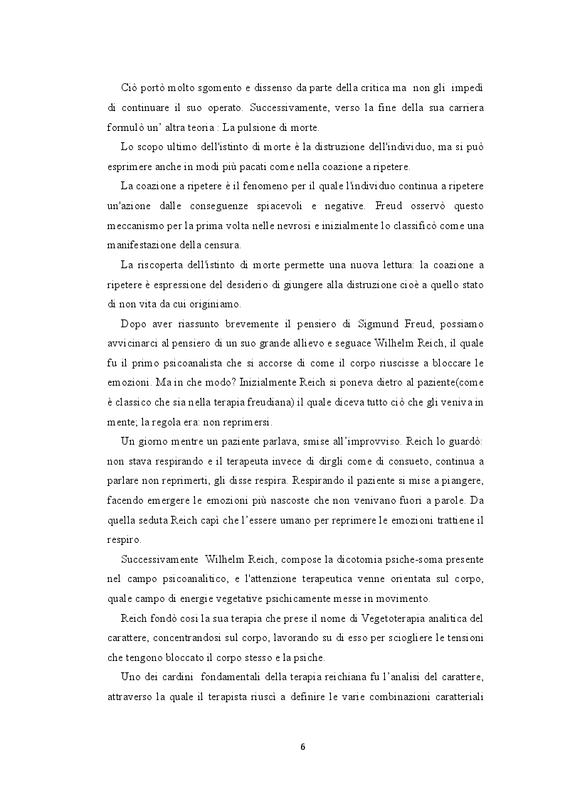 Anteprima della tesi: La bioenergetica e il teatro. L'importanza del corpo nella relazione d'aiuto, Pagina 5