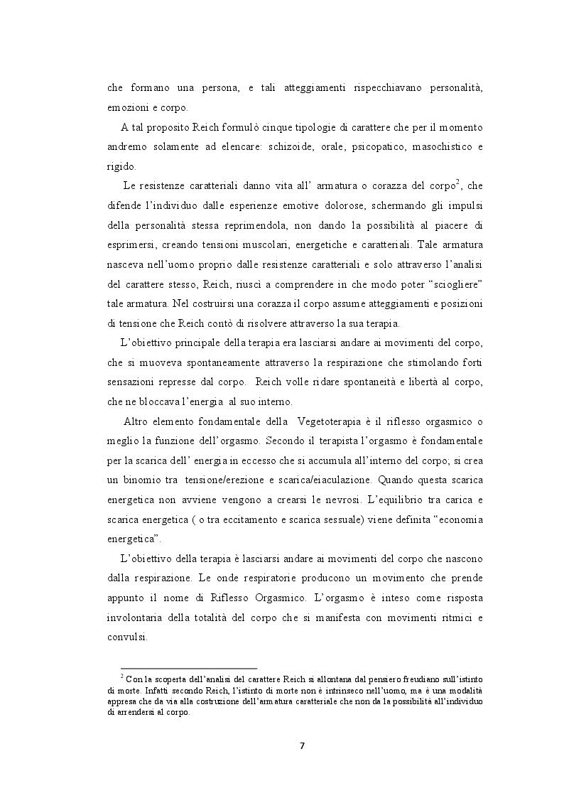 Anteprima della tesi: La bioenergetica e il teatro. L'importanza del corpo nella relazione d'aiuto, Pagina 6