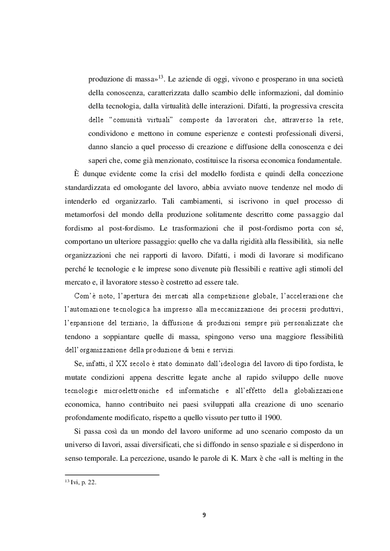 Estratto dalla tesi: Il volto del lavoro nella società contemporanea: dal lavoro che nobilita l'uomo al lavoro che mobilita l'uomo