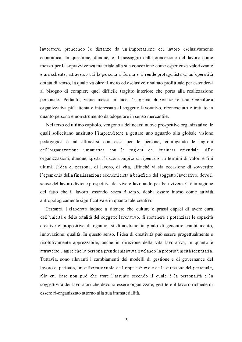 Anteprima della tesi: Il volto del lavoro nella società contemporanea: dal lavoro che nobilita l'uomo al lavoro che mobilita l'uomo, Pagina 4