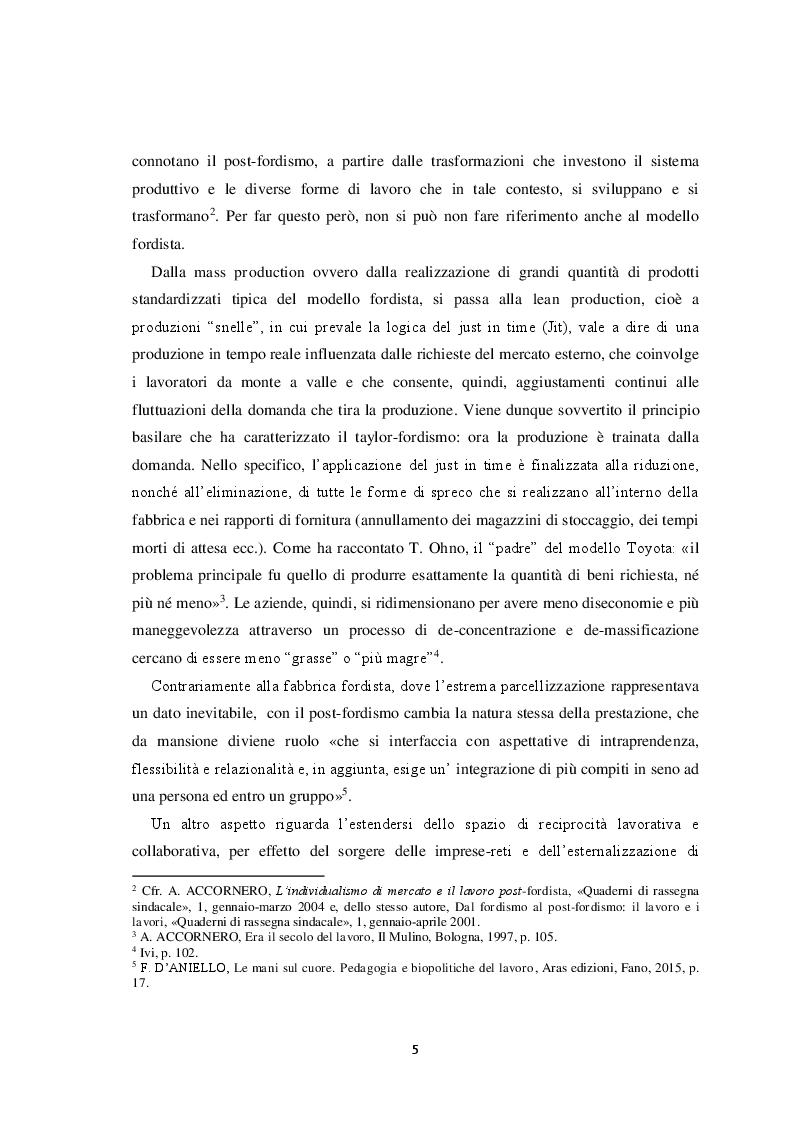 Anteprima della tesi: Il volto del lavoro nella società contemporanea: dal lavoro che nobilita l'uomo al lavoro che mobilita l'uomo, Pagina 6