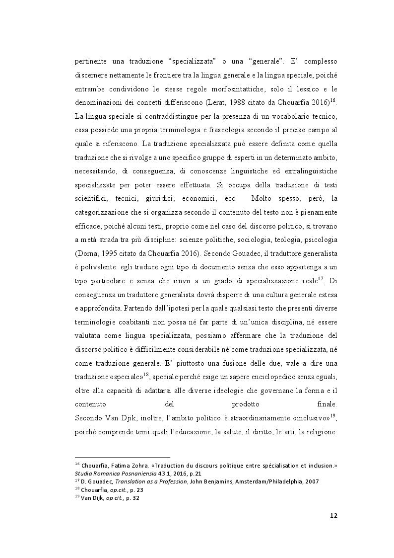 Estratto dalla tesi: La traduzione e il discorso politico: tradurre Donald Trump dall'inglese al francese