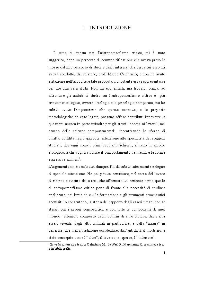 Anteprima della tesi: Oltre l'antropocentrismo, oltre l'antropodiniego: verso un ''antropomorfismo critico'', Pagina 2