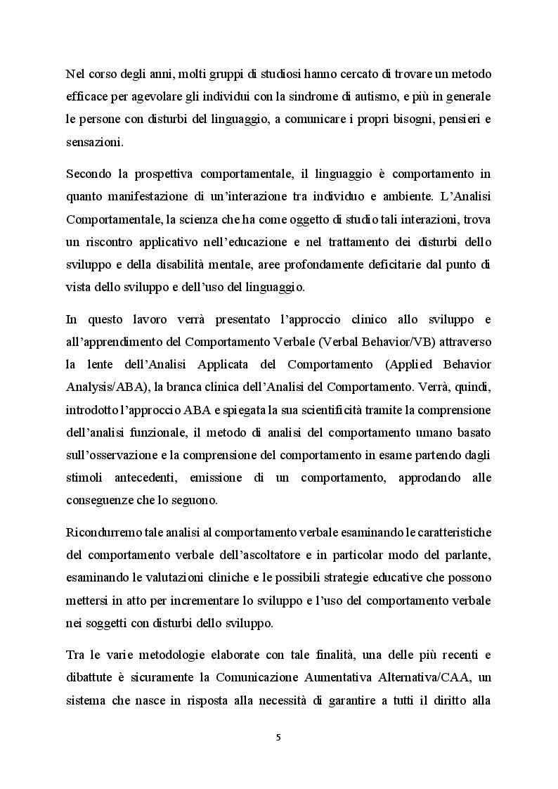 Anteprima della tesi: La difficoltà della comunicazione e dello sviluppo del linguaggio in bambini affetti da autismo, Pagina 3