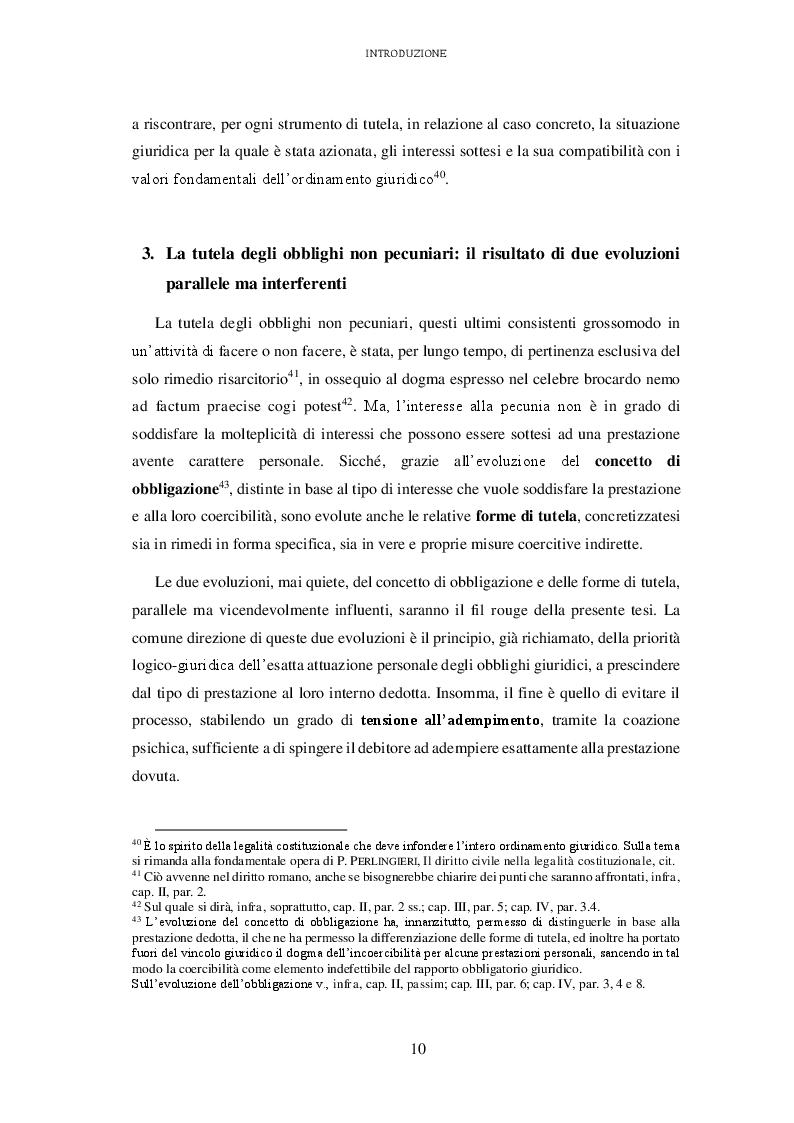 Estratto dalla tesi: L'attuazione degli obblighi non pecuniari. L'astreinte italiana nel sistema delle tutele
