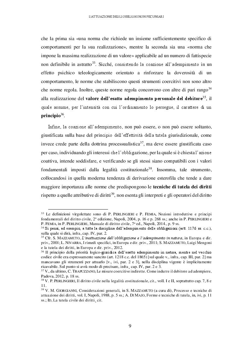 Anteprima della tesi: L'attuazione degli obblighi non pecuniari. L'astreinte italiana nel sistema delle tutele, Pagina 10