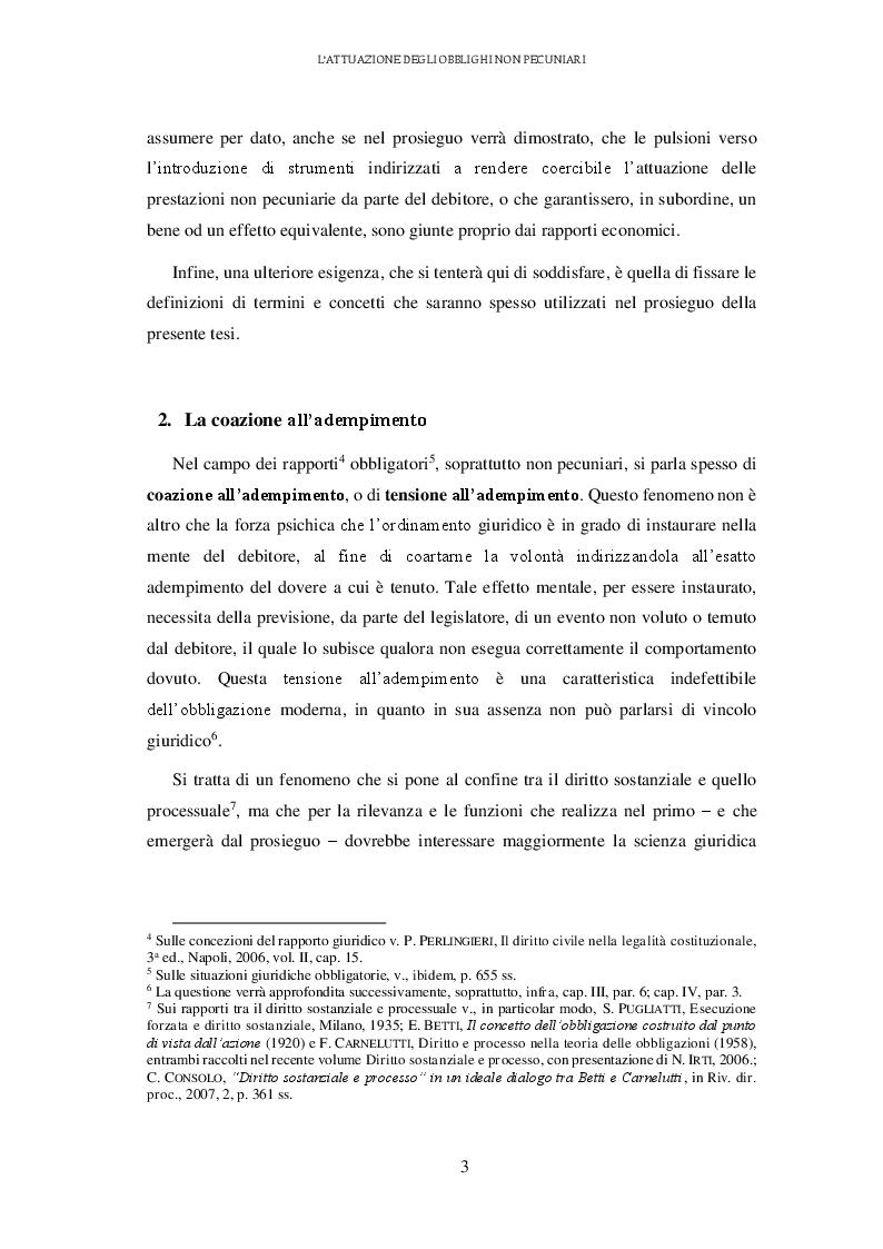 Anteprima della tesi: L'attuazione degli obblighi non pecuniari. L'astreinte italiana nel sistema delle tutele, Pagina 4