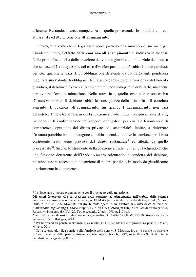 Anteprima della tesi: L'attuazione degli obblighi non pecuniari. L'astreinte italiana nel sistema delle tutele, Pagina 5