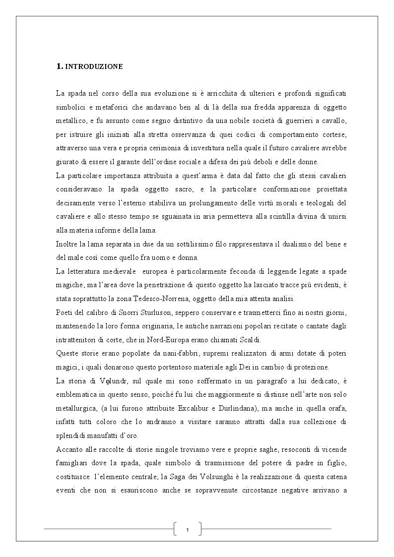 Anteprima della tesi: La spada magica, Pagina 2