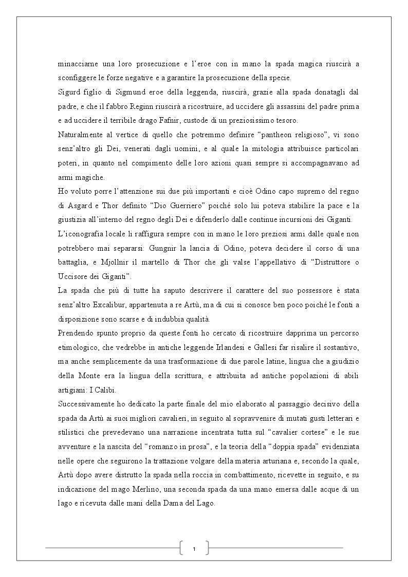 Anteprima della tesi: La spada magica, Pagina 3