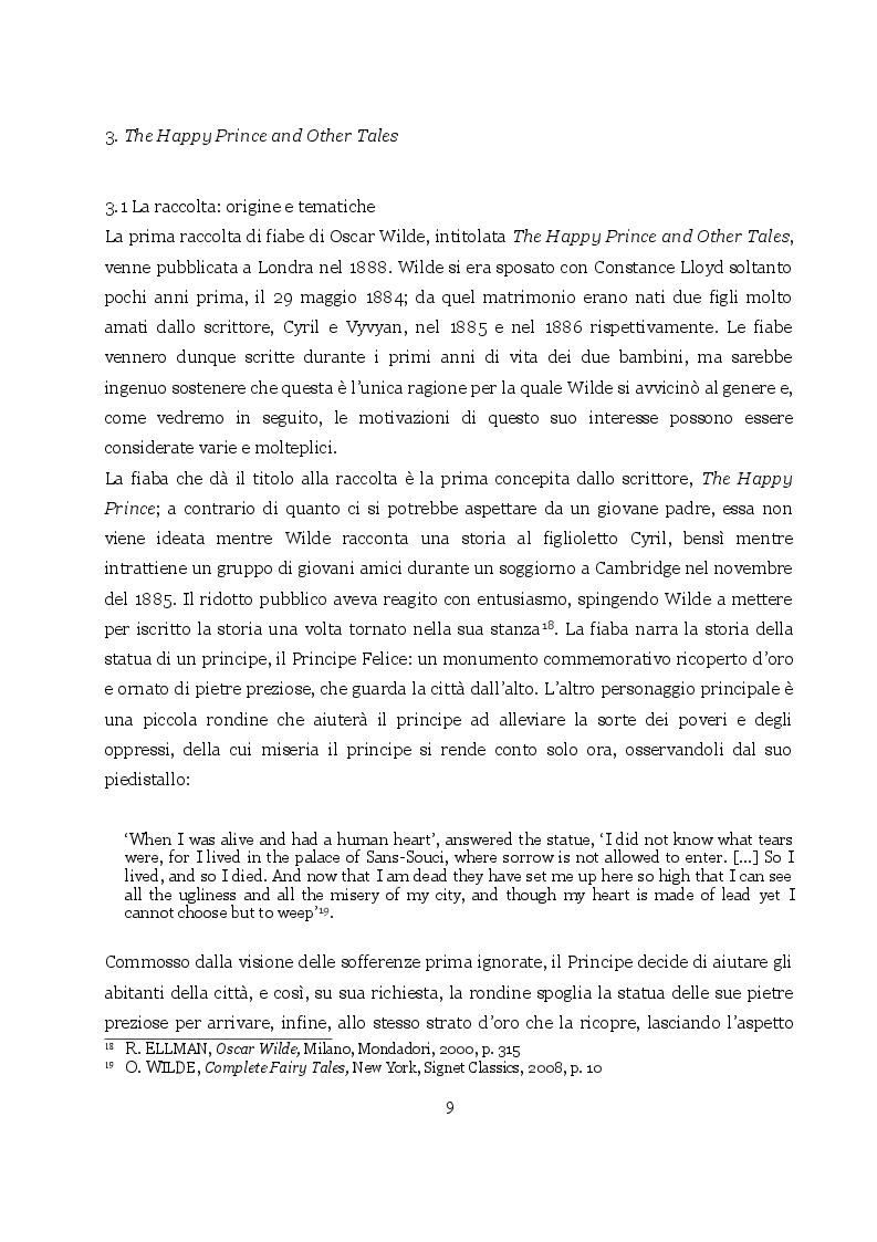 Estratto dalla tesi: The Happy Prince and Other Tales: fortuna editoriale delle fiabe di Oscar Wilde