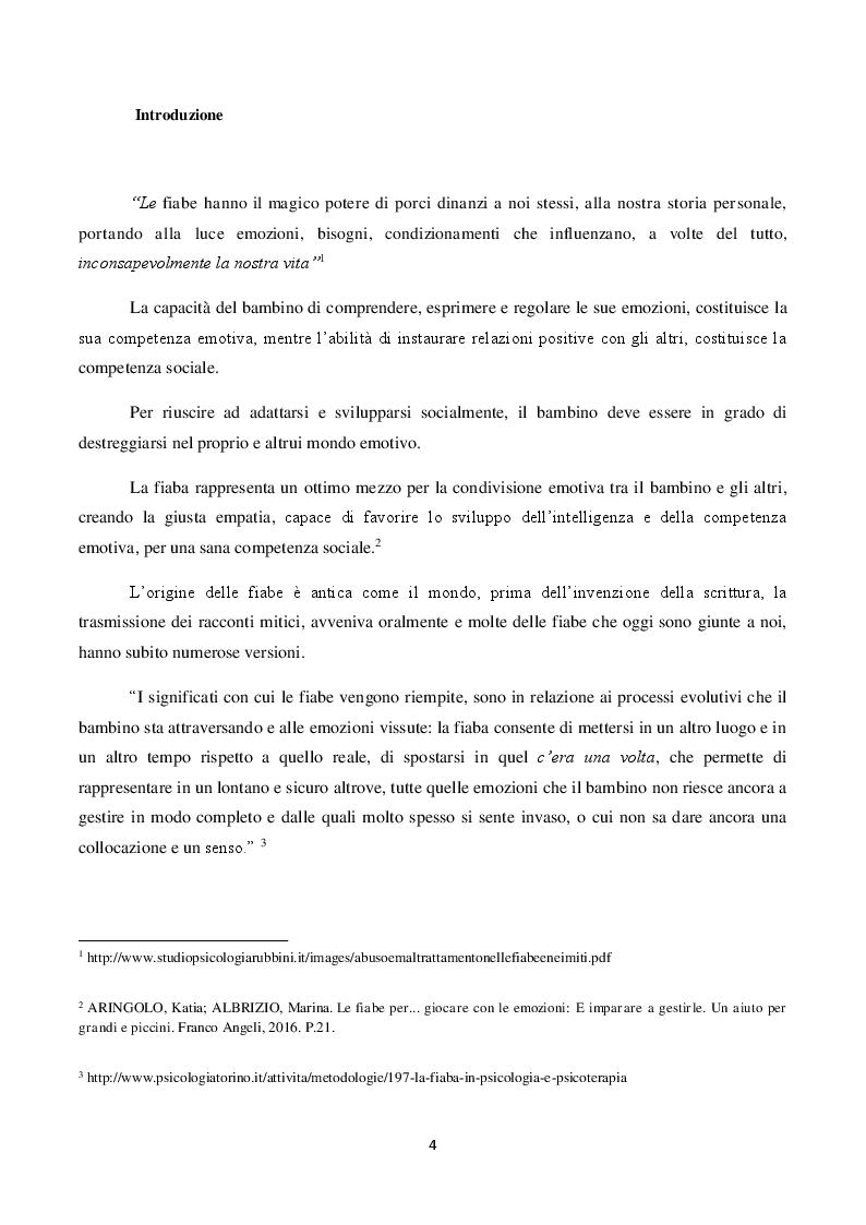 Anteprima della tesi: Il ruolo della fiaba nel narrare le emozioni.     La fiaba come strumento terapeutico e preventivo in caso di abuso e maltrattamenti., Pagina 2