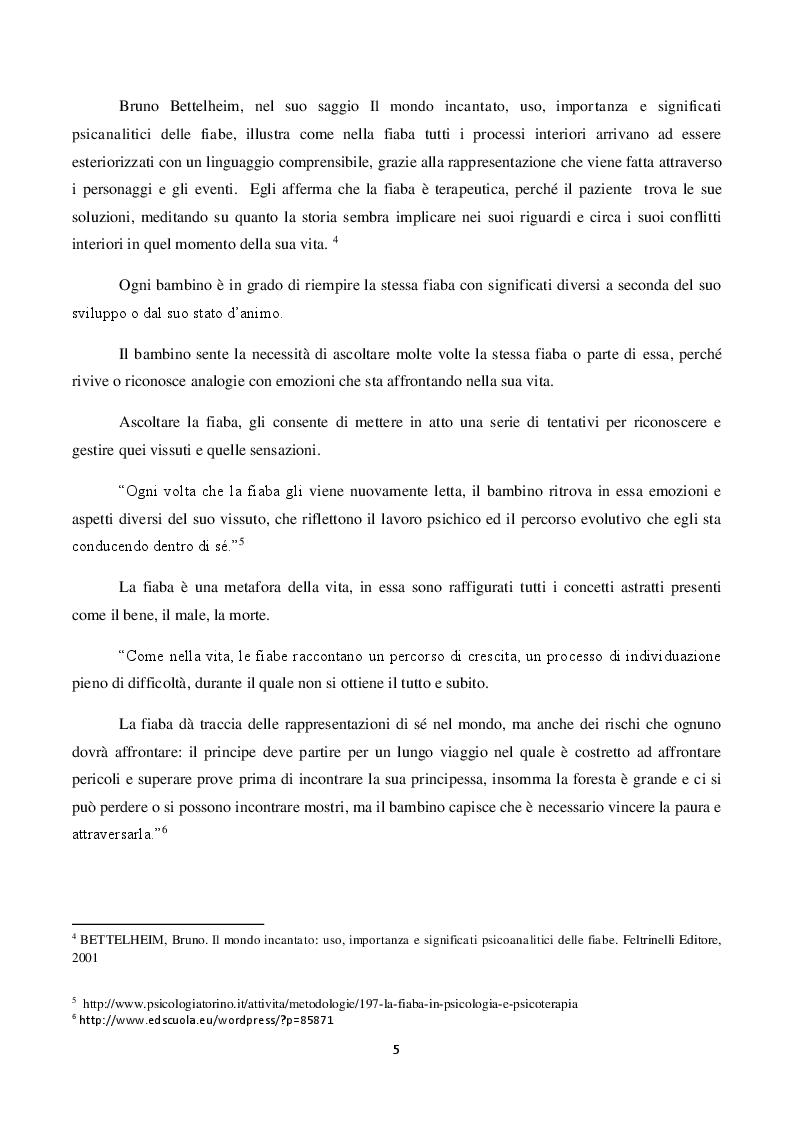 Anteprima della tesi: Il ruolo della fiaba nel narrare le emozioni.     La fiaba come strumento terapeutico e preventivo in caso di abuso e maltrattamenti., Pagina 3