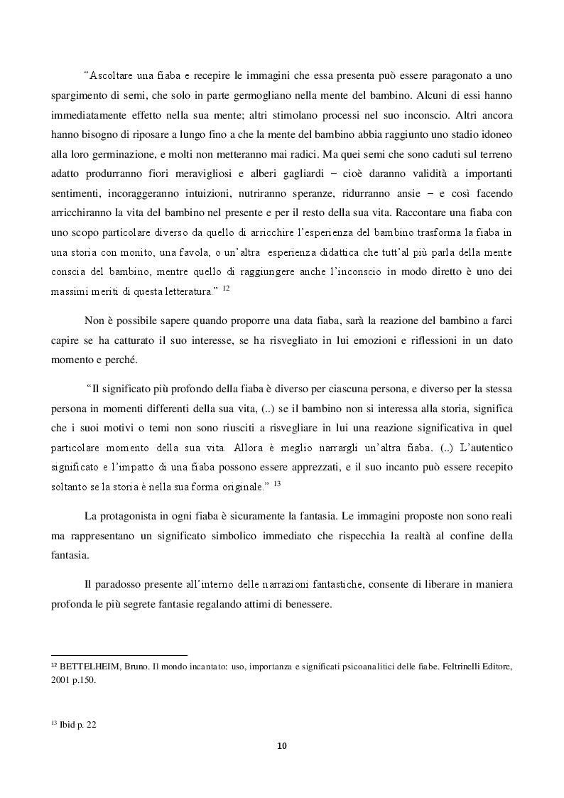 Anteprima della tesi: Il ruolo della fiaba nel narrare le emozioni.     La fiaba come strumento terapeutico e preventivo in caso di abuso e maltrattamenti., Pagina 8