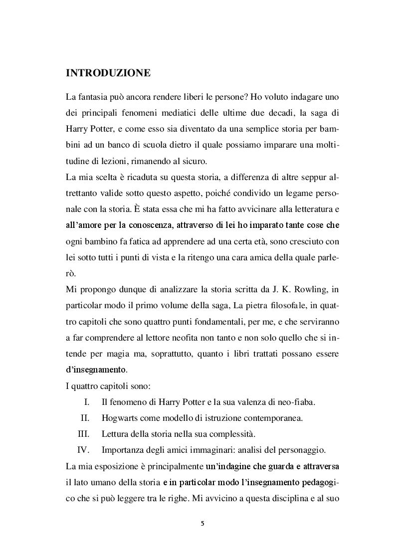 Anteprima della tesi: Harry Potter -  un potente strumento per lo sviluppo e l'educazione del bambino, Pagina 2