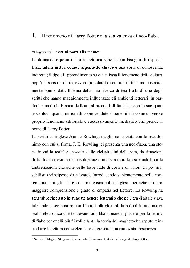 Anteprima della tesi: Harry Potter -  un potente strumento per lo sviluppo e l'educazione del bambino, Pagina 4