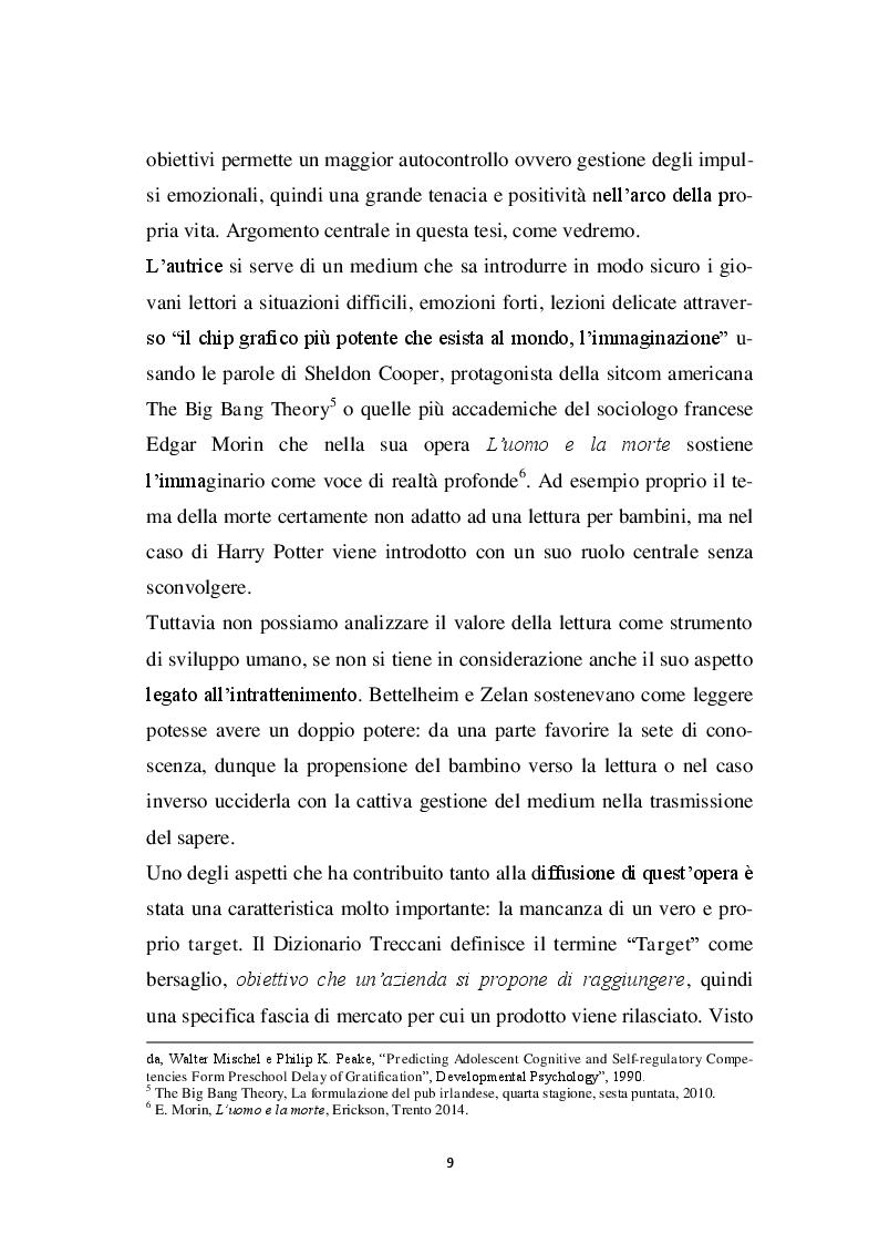 Anteprima della tesi: Harry Potter -  un potente strumento per lo sviluppo e l'educazione del bambino, Pagina 6