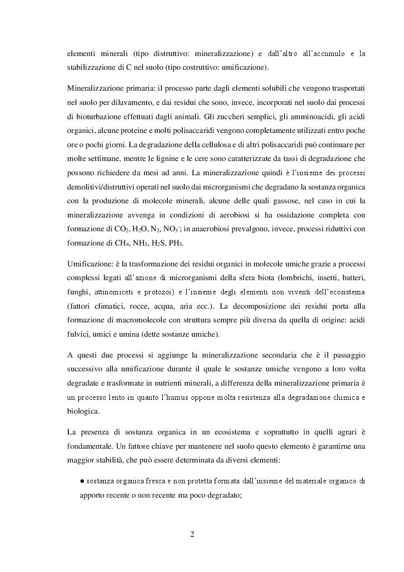 Anteprima della tesi: Valore agronomico ed effetti ambientali del compost da digestato, Pagina 3